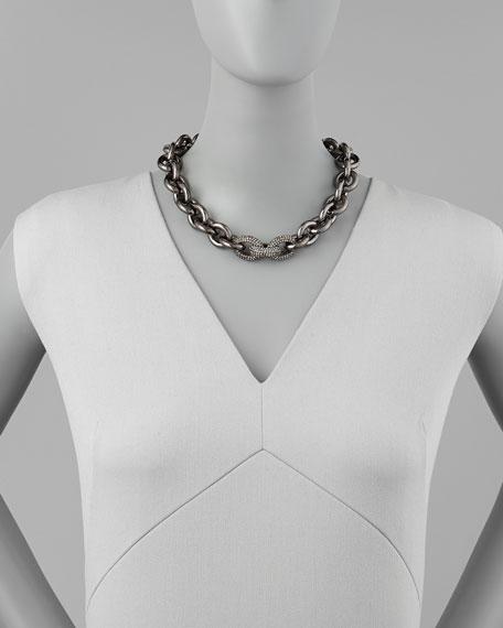 Manhattan Gunmetal Chain Necklace
