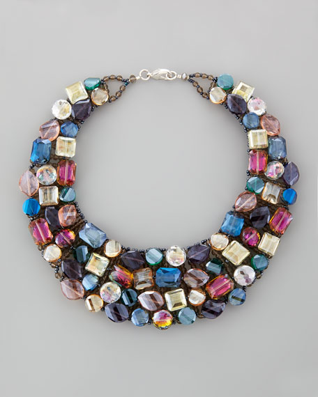 Multi-Crystal Statement Necklace
