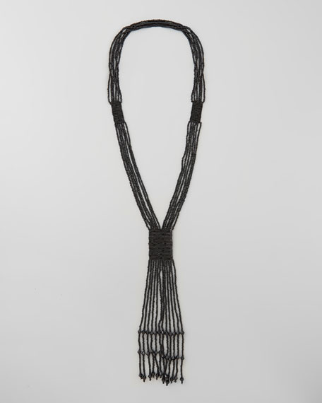 Multi-Strand Beaded Bolo Necklace