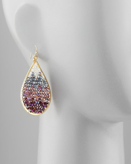 Ombre Crystal Drop Earrings