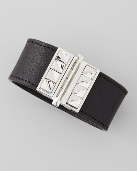 Cubs Leather Cuff, Black