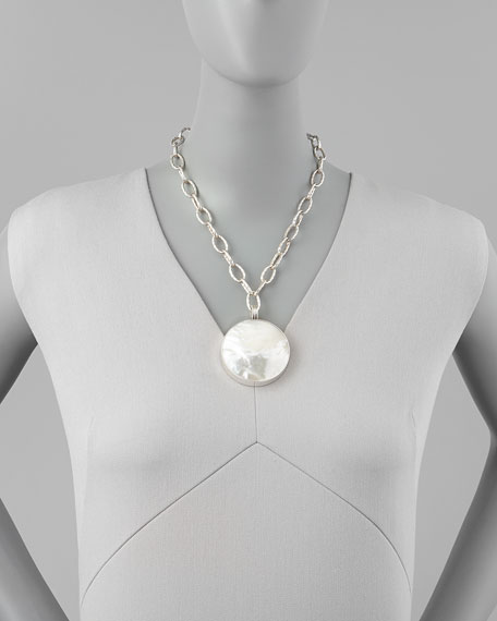 Mother-of-Pearl XL Pendant Necklace