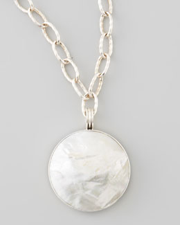 Dina Mackney Mother-of-Pearl XL Pendant Necklace