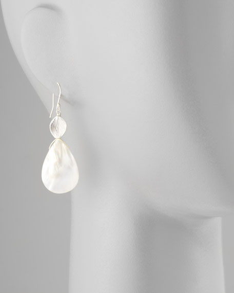 Mother-of-Pearl Silver Drop Earrings