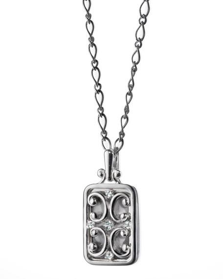 Monica Rich Kosann Rectangular Gate Locket with White
