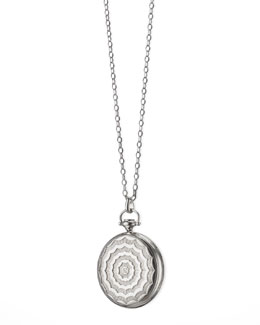Monica Rich Kosann Pocketwatch Locket Necklace