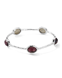 Ippolita Wonderland Silver Five-Station Bangle, Boysenberry