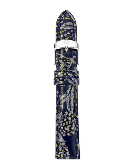 18mm Paisley Patent Watch Strap, Light Gray