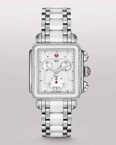 Deco Diamond Ceramic & Steel Watch Head