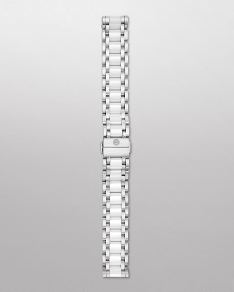 Deco Stainless Steel & Ceramic Watch Bracelet