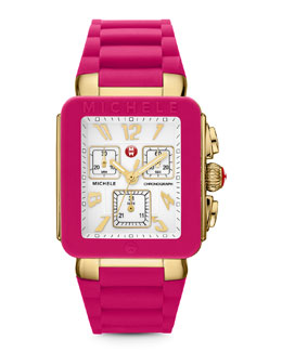 MICHELE Park Jelly Bean Watch, Pink/Yellow Golden