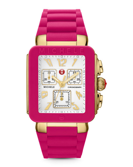 Park Jelly Bean Watch, Pink/Yellow Golden