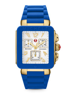 MICHELE Park Jelly Bean Watch, Blue/Yellow Golden