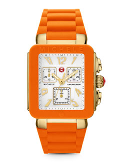 MICHELE Park Jelly Bean Watch, Orange/Yellow Golden