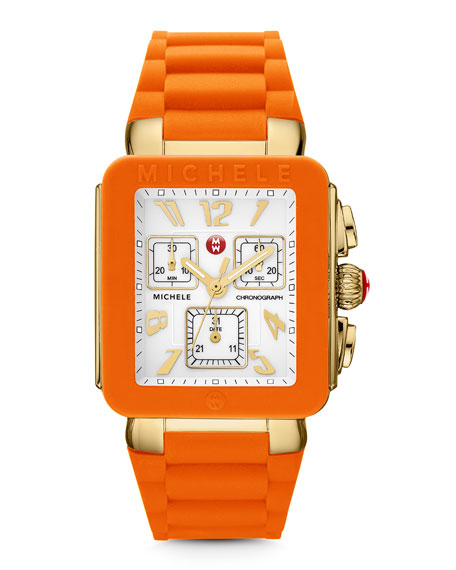 Park Jelly Bean Watch, Orange/Yellow Golden