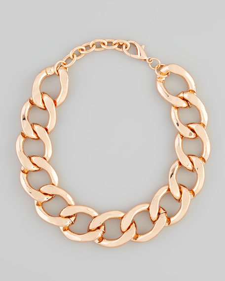 Rose Golden Chain Link Necklace