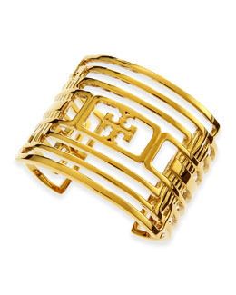 Tory Burch Ashley Grated Logo Cuff
