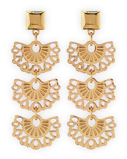 Tory Burch Madura Fan Drop Earrings