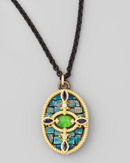 """Armenta Opal Mosaic Pendant Necklace, 17""""L"""