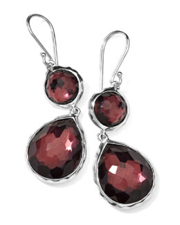 Ippolita Wonderland Mini Teardrop Snowman Earrings, Boysenberry