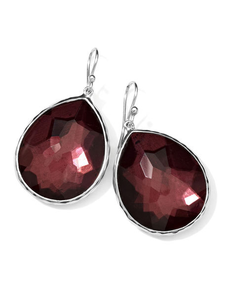 Sterling Silver Wonderland Teardrop Earrings in Boysenberry