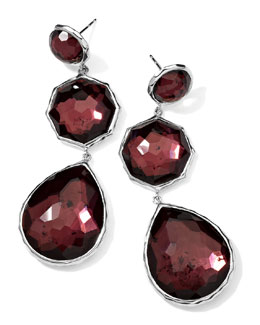 Ippolita Sterling Silver Wonderland Crazy 8's Earrings in Boysenberry