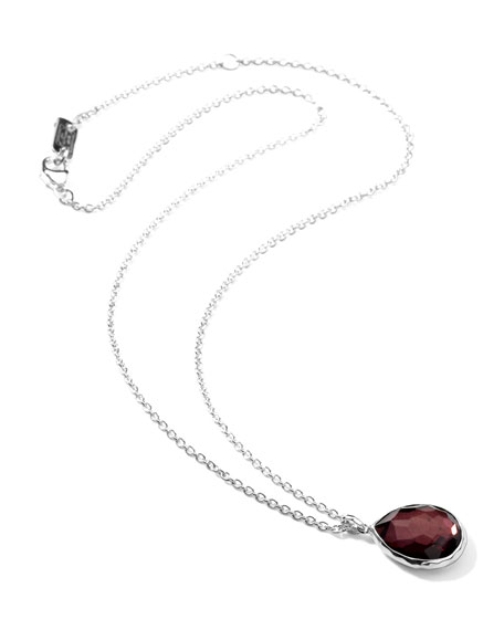 Sterling Silver Wonderland Mini Teardrop Pendant Necklace in Boysenberry 16-18""
