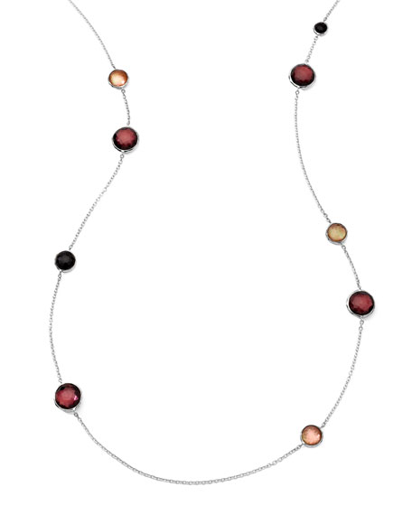 Sterling Silver Wonderland Lollipop Station Necklace in Pizzelle 40""
