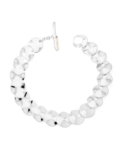 Ippolita Scultura Sterling Silver Small Wavy Disc Bracelet