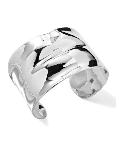 Sterling Silver Scultura Lips Cuff Bracelet