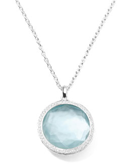 Ippolita Stella Large Lollipop Necklace in Blue Topaz & Diamonds 16-18""