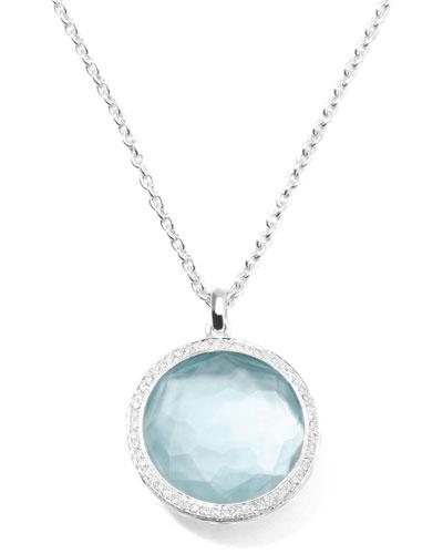 "Ippolita Stella Large Lollipop Necklace in Blue Topaz & Diamonds 16-18"""