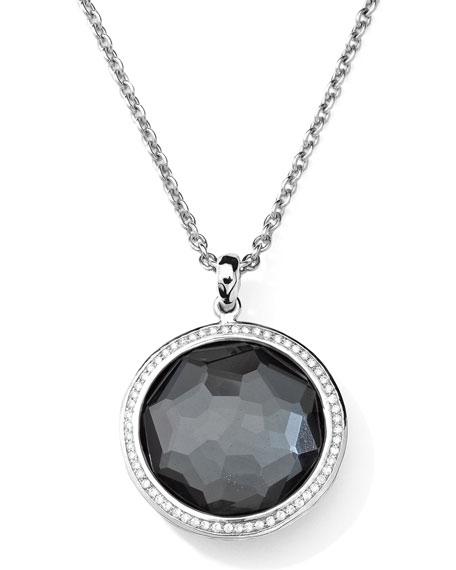 Ippolita Stella Large Lollipop Necklace in Hematite &