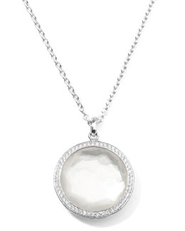 Ippolita Stella Large Lollipop Necklace in Mother-of-Pearl & Diamonds 16-18""