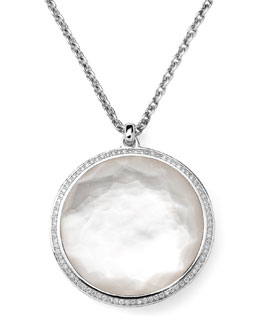 Ippolita Stella Pendant Necklace in Mother-of-Pearl & Diamonds 16-18""