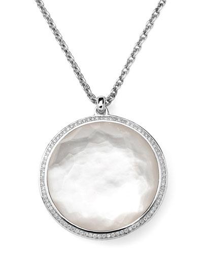 "Ippolita Stella Pendant Necklace in Mother-of-Pearl & Diamonds 16-18"""