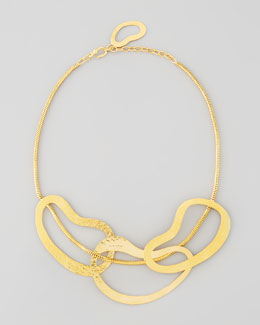 Herve Van Der Straeten Vibrations 3-Ring Bib Necklace