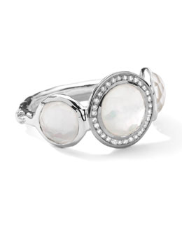 Ippolita Stella 3-Doublet Ring in Mother-of-Pearl & Diamonds, .12 ct