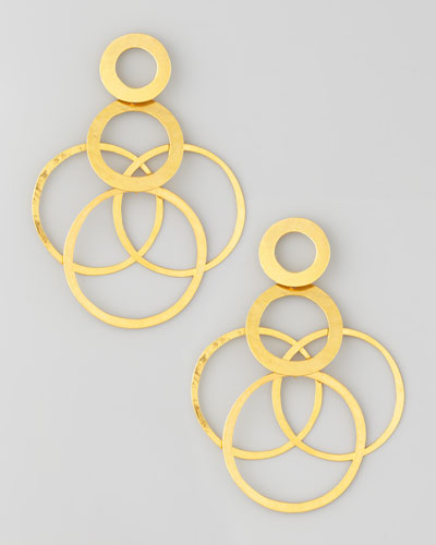 Interlocked-Hoops Drop Earrings