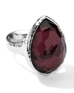 Ippolita Sterling Silver Wonderland Teardrop Ring in Boysenberry