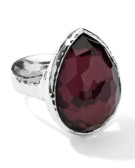 Sterling Silver Wonderland Teardrop Ring in Boysenberry