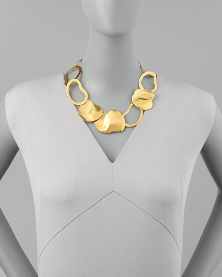 Vibrations Gold-Plate Open-Link Necklace