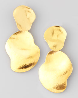 Herve Van Der Straeten Vibrations Gold-Plate Drop Earrings