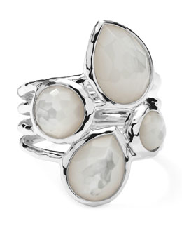 Ippolita Sterling Silver Rock Candy 4-Stone Ring in Mother-of-Pearl