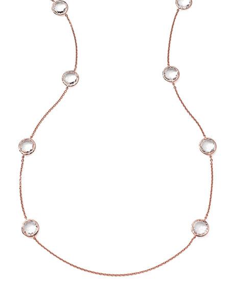 Rose Rock Candy 8-Stone Necklace, Clear Quartz