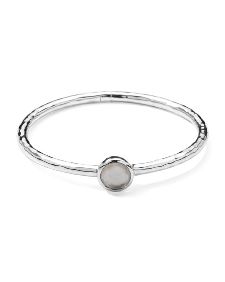 Sterling Silver Wonderland Hinge Bangle in Mother-of-Pearl