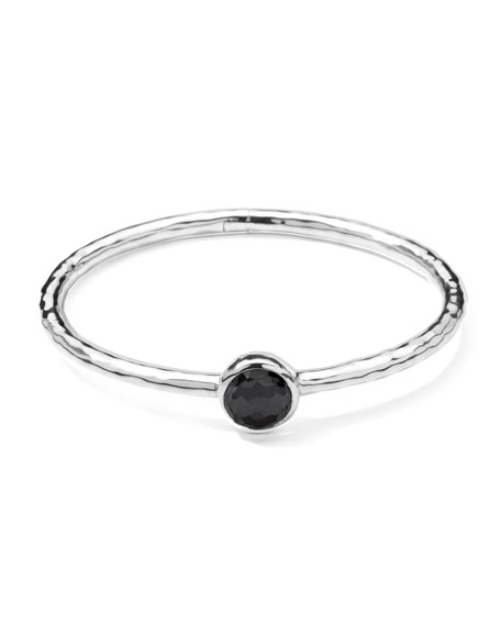 Sterling Silver Wonderland Hinge Bangle in Hematite