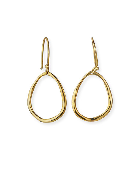 Ippolita 18K Gold Mini Squiggle Open Teardrop Earrings