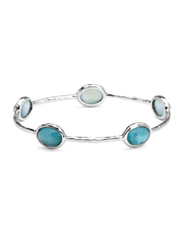 Ippolita Sterling Silver Wonderland 5-Stone Bangle in Denim