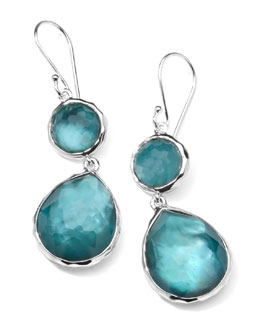 Ippolita Sterling Silver Wonderland Mini Teardrop Snowman Earrings in Denim